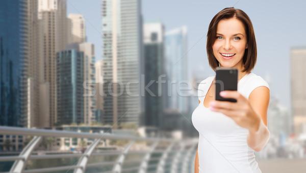女性 画像 スマートフォン ドバイ 市 ストックフォト © dolgachov