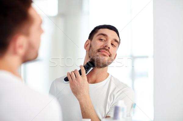 Homem barba banheiro beleza higiene Foto stock © dolgachov