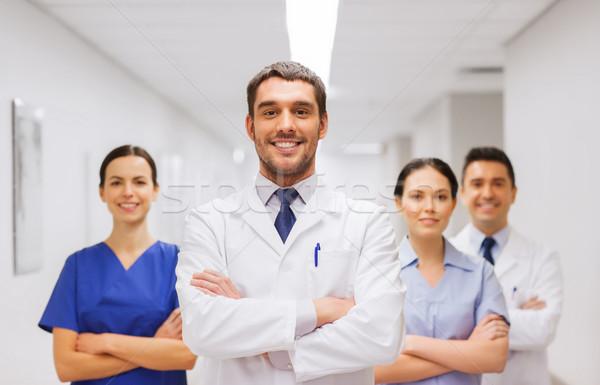 幸せ グループ 医師 病院 クリニック 職業 ストックフォト © dolgachov