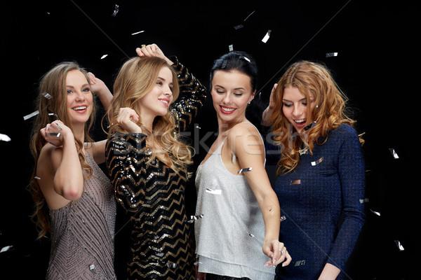 Feliz mulheres jovens dança boate discoteca festa Foto stock © dolgachov