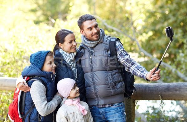 Família feliz vara mata viajar turismo Foto stock © dolgachov