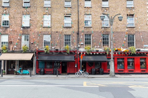 здании Бар Паб улице Дублин город Сток-фото © dolgachov
