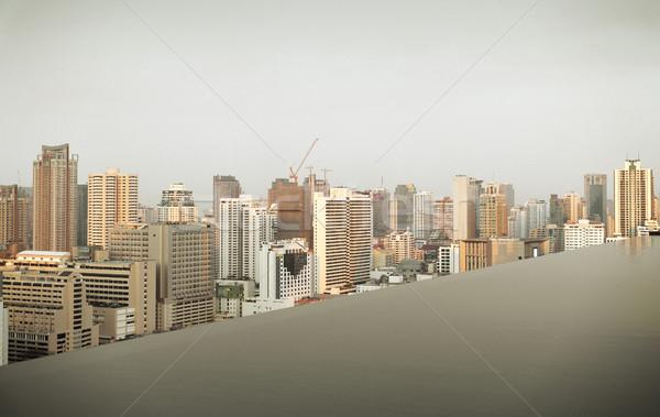 表示 無限 エッジ プール バンコク 市 ストックフォト © dolgachov