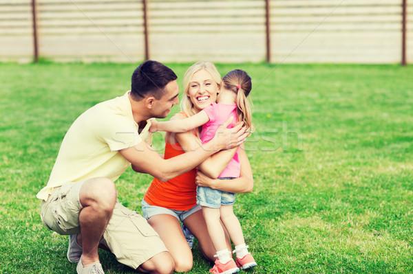 Glückliche Familie Freien Familie Glück Verabschiedung Stock foto © dolgachov