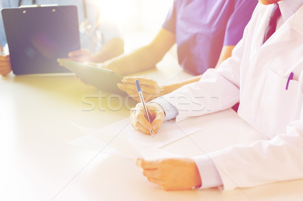 Glücklich Ärzte Seminar Krankenhaus Bildung Stock foto © dolgachov