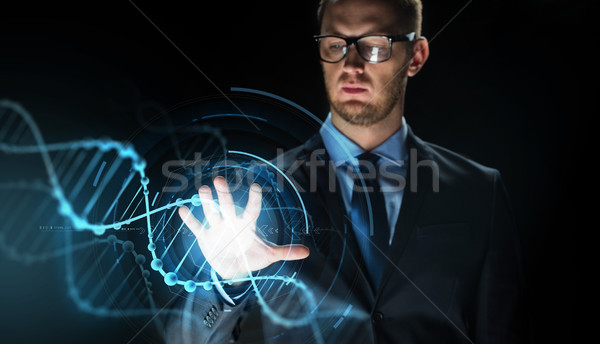 Affaires ADN projection gens d'affaires science Photo stock © dolgachov