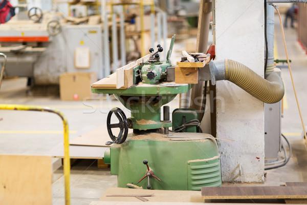 old woodworking machine at workshop Stock photo © dolgachov