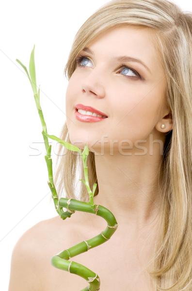 Bambú Foto nina feliz verde Foto stock © dolgachov
