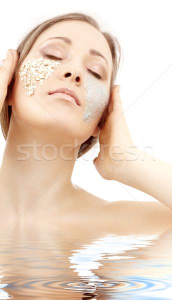 Gel bella donna faccia acqua donna Foto d'archivio © dolgachov