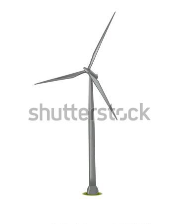 Illusztráció szélturbina közelkép kép természet világ Stock fotó © dolgachov