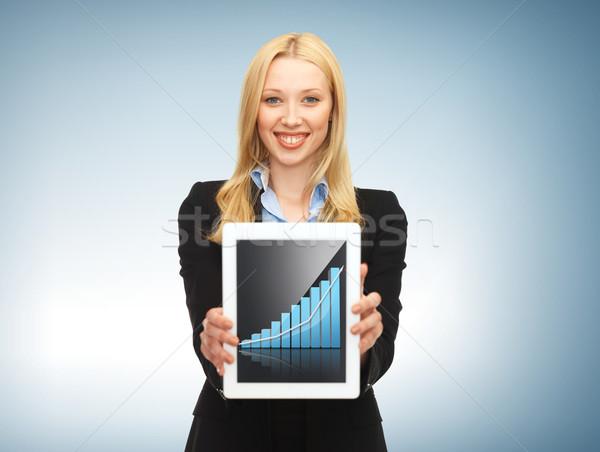 businesswoman with tablet pc Stock photo © dolgachov
