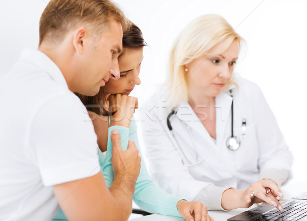 doctor with patients in hospital Stock photo © dolgachov