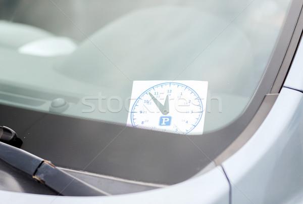 Parkeren klok auto dashboard vervoer voertuig Stockfoto © dolgachov