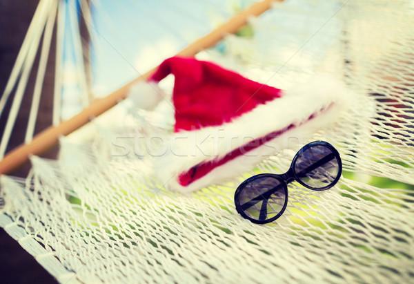 Hamaca ayudante sombrero vacaciones Navidad Foto stock © dolgachov