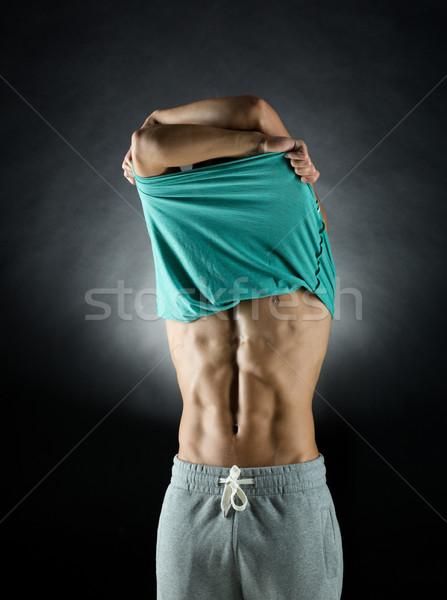 Stockfoto: Jonge · mannelijke · bodybuilder · sport · bodybuilding · sterkte
