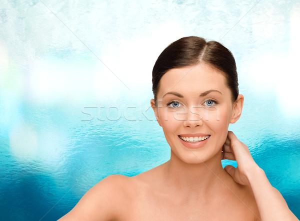 улыбаясь голый Плечи красоту люди Сток-фото © dolgachov