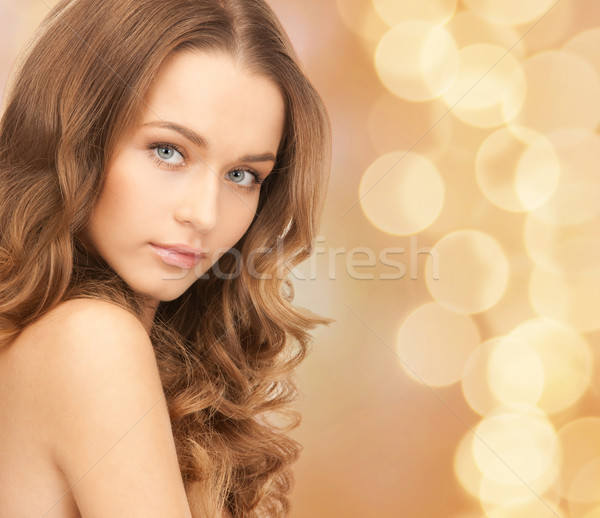 Piękna młoda kobieta plecy piękna ludzi Zdjęcia stock © dolgachov
