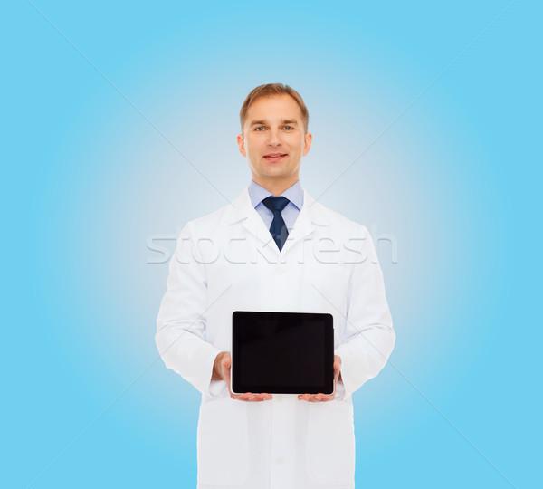 Stockfoto: Glimlachend · mannelijke · arts · geneeskunde · beroep · advertentie