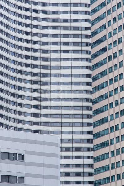 Kantoorgebouw Windows textuur achtergronden buitenkant stad Stockfoto © dolgachov