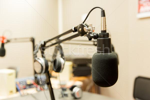 Mikrofon radio stacja technologii elektroniki Zdjęcia stock © dolgachov