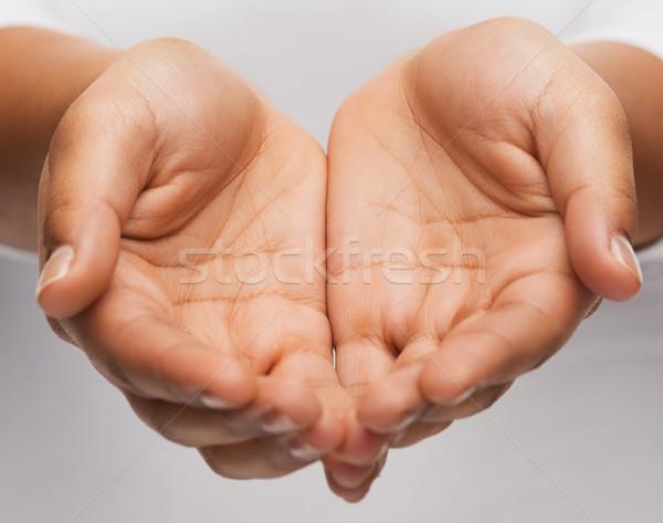 Eller bir şey insanlar Filmi Stok fotoğraf © dolgachov