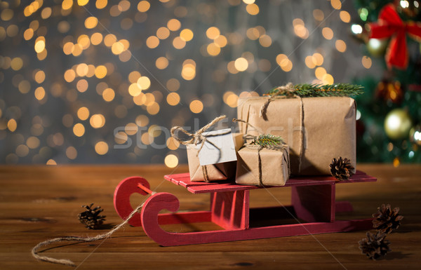 Christmas sanie wakacje Zdjęcia stock © dolgachov