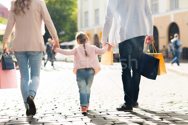 ストックフォト: 家族 · 子 · ショッピング · 市 · 販売