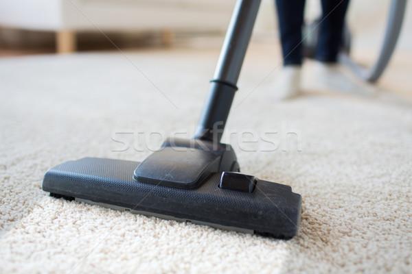 女性 脚 真空掃除機 ホーム 人 ストックフォト © dolgachov