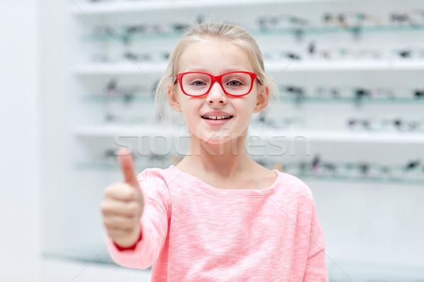 少女 眼鏡 光学 ストア ストックフォト © dolgachov