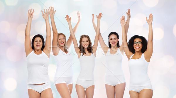 Groupe heureux différent femmes célébrer victoire Photo stock © dolgachov