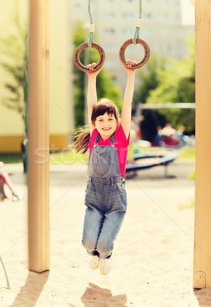 Feliz little girl crianças recreio verão infância Foto stock © dolgachov