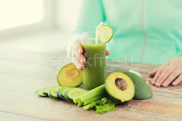 женщину рук сока овощей Сток-фото © dolgachov