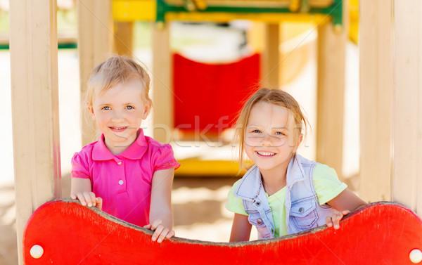 幸せ 女の子 子供 遊び場 夏 幼年 ストックフォト © dolgachov