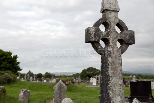 古い 墓 クロス ケルト 墓地 アイルランド ストックフォト © dolgachov