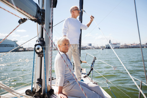 Zeil boot jacht zee Stockfoto © dolgachov