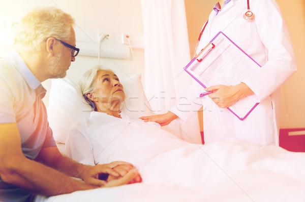 Kıdemli kadın doktor hastane tıp Stok fotoğraf © dolgachov