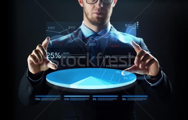 ビジネスマン バーチャル チャート ビジネスの方々  技術 ストックフォト © dolgachov