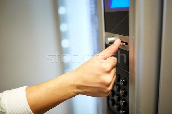 стороны евро монеты торговый автомат продавать технологий Сток-фото © dolgachov