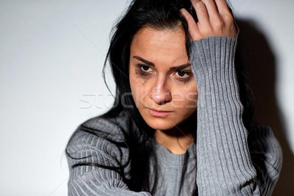 Infelice piangere donna persone dolore Foto d'archivio © dolgachov