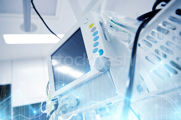 life support machine at hospital operating room Stock photo © dolgachov