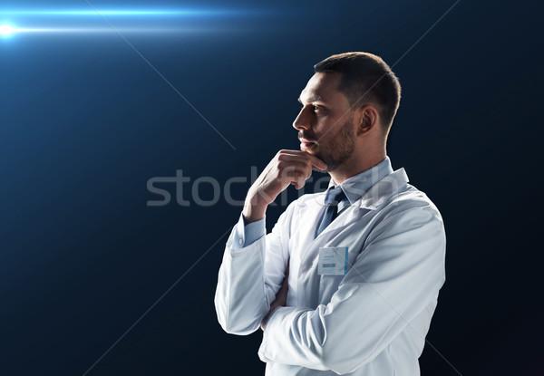 doctor or scientist in white coat Stock photo © dolgachov