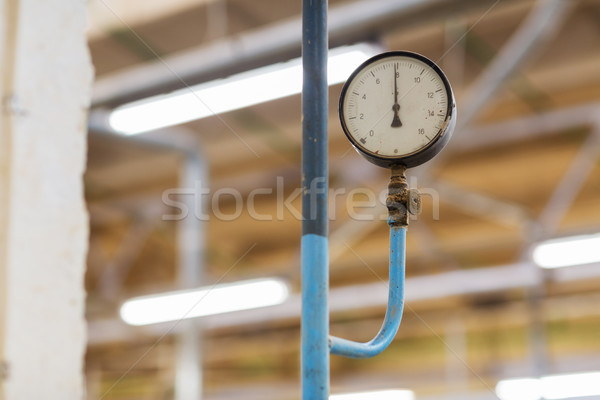 old barometer at industrial plant Stock photo © dolgachov