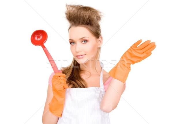 Gospodyni domowa czerwony chochla zdjęcie piękna pomarańczowy Zdjęcia stock © dolgachov