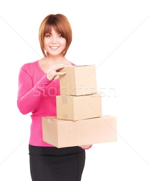 Foto stock: Mujer · de · negocios · Foto · negocios · mujer · feliz · empresarial