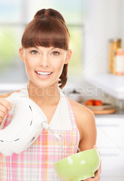 Ménagère mixeur lumineuses photos belle cuisine Photo stock © dolgachov