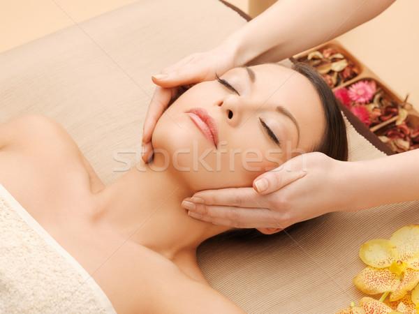 женщину Spa салона массаж столе лице Сток-фото © dolgachov