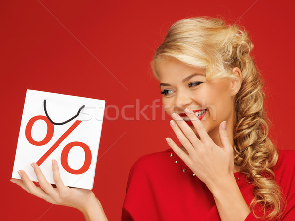 woman with shopping bag Stock photo © dolgachov