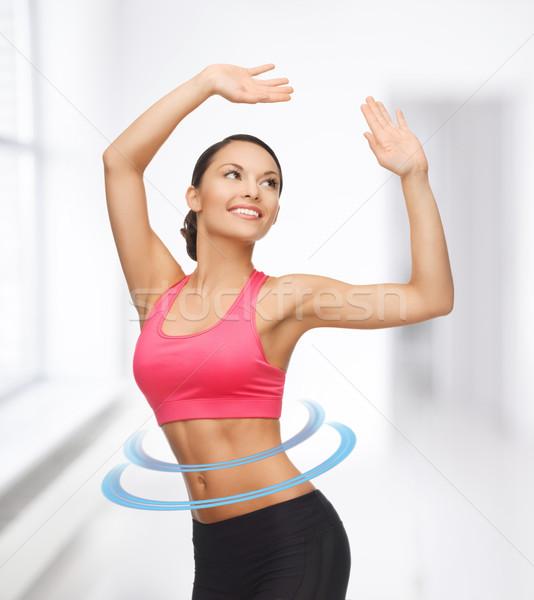 Kadın aerobik dans hareket güzel Stok fotoğraf © dolgachov