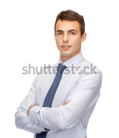 Barátságos fiatal üzlet irodai emberek diák üzletember Stock fotó © dolgachov