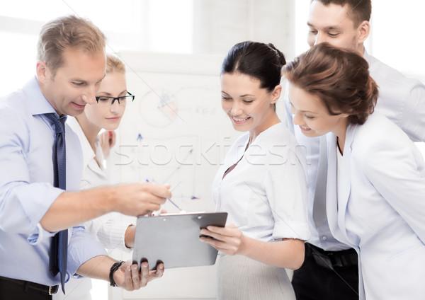 ビジネスチーム オフィス 笑みを浮かべて ビジネス ストックフォト © dolgachov